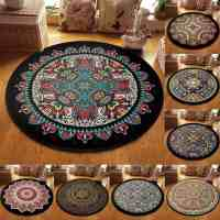 Non-Slip Machine Washable Round Rug Mandala Pattern Living Room Soft Carpet Floor Mat  for $9.48 w/code (reg: $31.60)