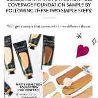 GET YOUR FREE SEPHORA COLLECTION MATTE PERFECTION FULL COVERAGE FOUNDATION SAMPLE!