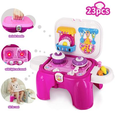 Amazon : 2-in-1 Folding Pretend Kitchen Play Set Just $15.59 W/Code + 5% Off Coupon (Reg : $25.99) (As of 8/24/2019 1.25 PM CDT)