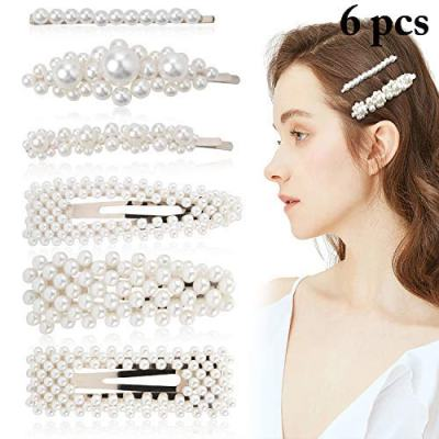 Amazon : 6PCS Pearl Hair Accessories Barrettes Hair Clips for Women Just $4.99 W/Code (Reg : $9.99) (As of 8/17/2019 3.38 AM CDT)