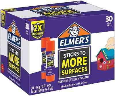 Amazon : Elmer's Extra Strength School Glue Sticks, Washable, 6 Gram, 30 Count Just $12.22 (Reg : $28.08) (As of 8/5/2019 10.04 PM CDT)