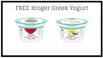 Kroger Friday Freebie: FREE Kroger Greek Yogurt