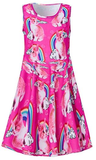Amazon : Girls Printed Sleeveless Dress Just $6.30 W/Code (Reg : $13.99) (As of 8/25/2019 3.55 PM CDT)