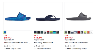 Kohl's : SALE on Nike Slides AS LOW AS $15.50 !!