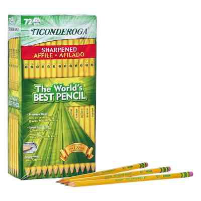 Amazon : Pre-Sharpened with Eraser, Yellow, 72-Pack Just $9.99 (Reg : $21.29) (As of 8/3/2019 8.02 PM CDT)