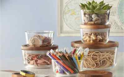 Pyrex 6-Piece Storage Set with Wood Lids $22.99 at Macy's (Reg $59) – Today Only!