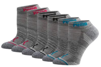 Puma : Women's Low Cut Side Hit Socks [6 Pack] Just $5.99 (Reg : $18)