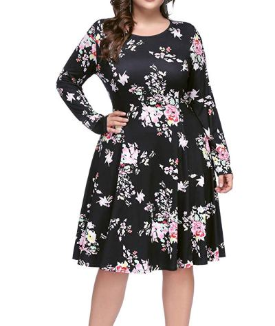Women Plus Size A-Line Party Dresses for $9.45 Shipped! (Reg. Price $26.99)