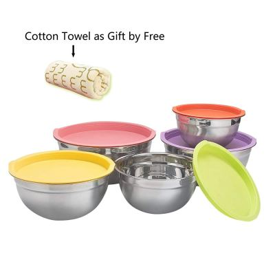 Amazon : 5 Piece Mixing Bowls Large 5 Quart Capacity Stainless Steel Bowl Set With Colorful Lids Just $17.39 W/Code (Reg : $28.99) (As of 9/16/2019 8.30 PM CDT)