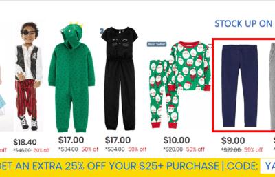 Carter's : 50-60% off Christmas + Halloween stuff + cozy fleece leggings/joggers (STOCK UP!!!) W/Free Ship!