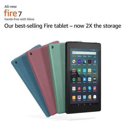 "Amazon : All-New Fire 7 Tablet (7"" display, 16 GB) - Black Just $29.99 (Reg : $49.99) (As of 9/16/2019 2.36 PM CDT)"