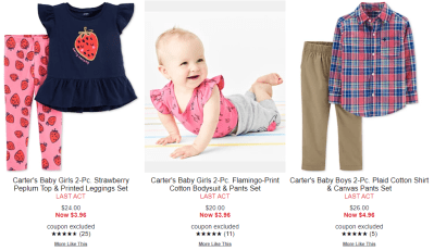 Macy's : Carter's Sets Sale & Clearance Starting From $3.96!