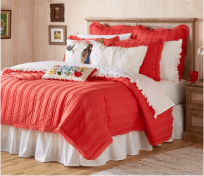 Walmart : Double Stitch Full/Queen Red Quilt Just $14.99 (Reg : $34.99)