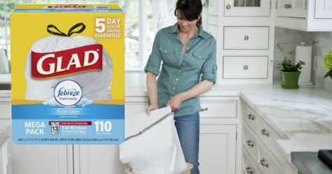 Amazon: Glad OdorShield 13-Gallon Trash Bags 110-Count ONLY $12.28 Shipped (11¢/bag)