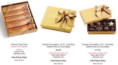 Macy's : Godiva Chocolates SALE!