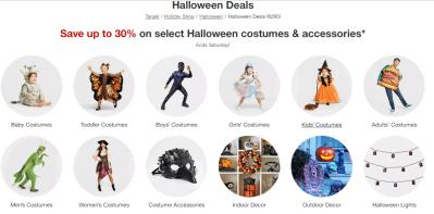 Target : 30% Off Halloween Costumes & Accessories!!