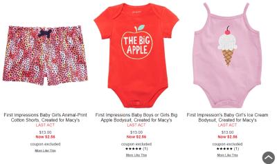 Macy's : Kid's Clotthing Fom $2.56!!