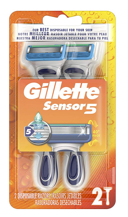 Gillette Men's Disposable Razors, 2 Count for $3.77 w/$3 coupon clip