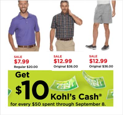 Kohl's : Men's Item Sale From Under $15!!