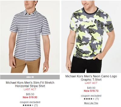 Macy's : Michael Kors Men's Shirts UP TO 80% OFF!