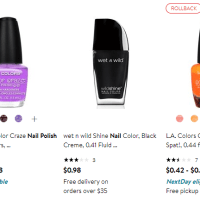 Walmart : Nail Polishes Starting From $0.30!!