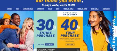 Old Navy : Sale!!