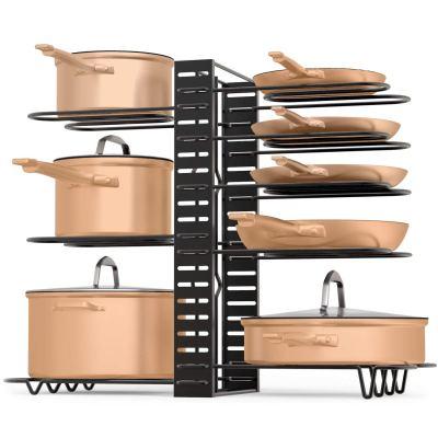 Amazon : Pan & Lid Organizer - 3 Method DIY Adjustable 8 Rack System Just $14.47 W/50% Off Coupon (Reg : $28.95) (As of 9/18/2019 1.29 PM CDT)
