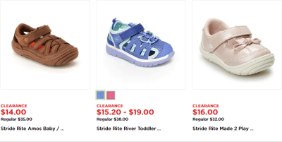 Kohl's : up to 60% off Stride Rite Shoes W/Code !!