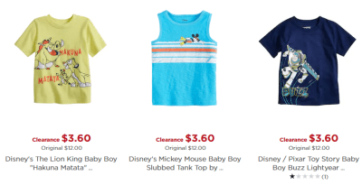 Kohl's : Under $10 Disney/Jumping Beans Baby Clothing!