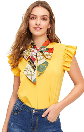 Amazon : Women's Short Sleeve Round Neck Contrast Striped Summer Tee Shirt Top Just $6 W/Code (Reg : $19.99) (As of 9/16/2019 9.46 PM CDT)