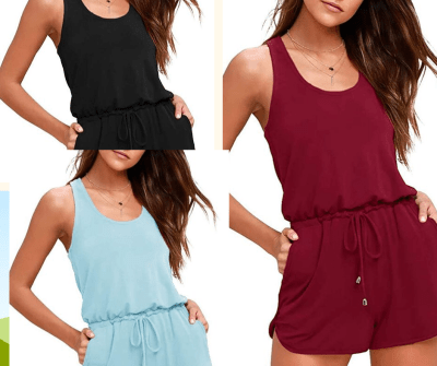 Women's Sleeveless Strappy Jumpsuit for $10 w/code