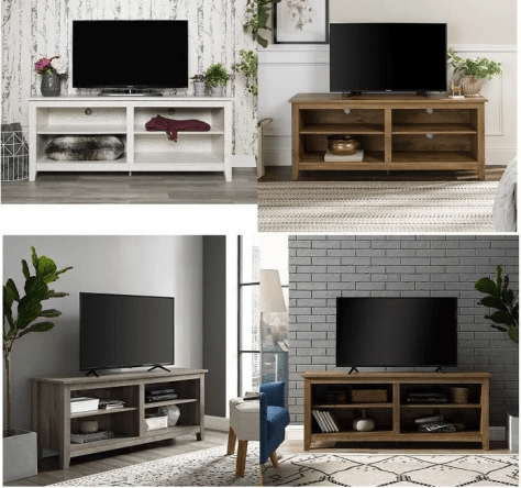 Walker Edison Wood TV Media Storage Stand for TV's up to 64″ for $99.00 (Reg $129.00+)