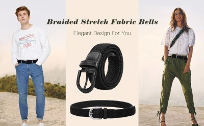 Fabric Woven Stretch Braided Belts for Men & Women for just $4 w/code