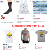 JCPenny Clearance Starts from $1.11