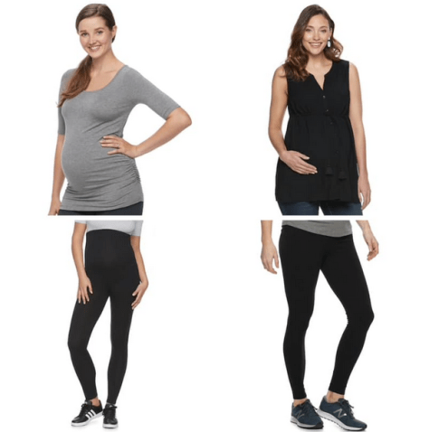 Maternity Apparel as low as $5.39