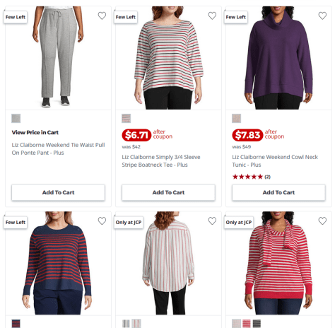 Women's Plus Size Apparel for as low as $6.71