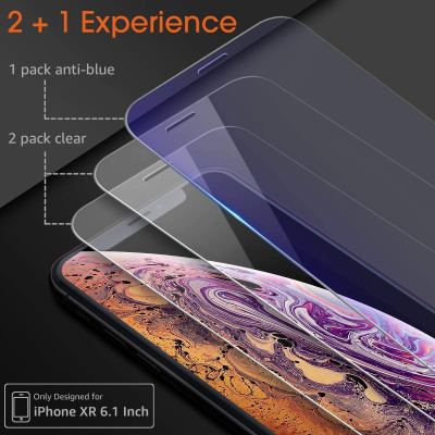 Screen Protector Compatible with iPhone XR Glass Screen Protector 3 Pack for $2.60 w.code