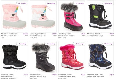 Snow Boots starts from $14.99 (Reg $20.00+)