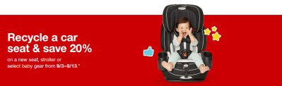 Target Car Seat Trade-In Event (Get 20% Off Coupon)