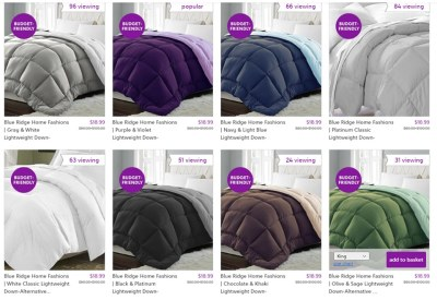 Down-Alternative Comforters for $18.99 (Reg $80.00+)