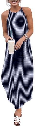 Amazon : Women Summer Sleeveless Stripe Maxi Dress Just $7.80 W/Code (Reg : $25.99) (As of 10/17/2019 9.29 PM CDT)
