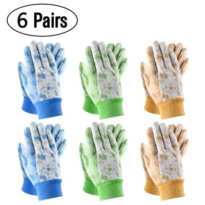 Amazon : 6 Pairs Pack Women Soft Garden Gloves Just $6.49 W/Code (Reg : $12.99) (As of 10/17/2019 2.10 PM CDT)