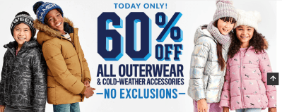 The Children's Place : 60% Off All Outerwear!!