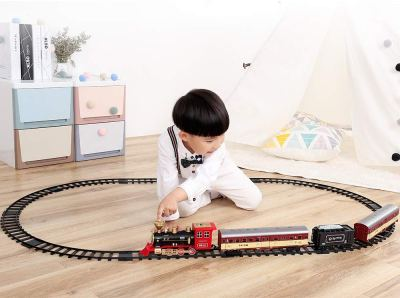 Electronic Classic Railway Train Sets w/ Steam Locomotive Engine for $19.99 w/code & coupon