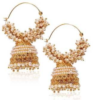 Amazon : Ethnic Jewelry Bollywood Traditional Indian Pearl Jhumki Earrings Just $11.99 (As of 10/20/2019 9.50 PM CDT)