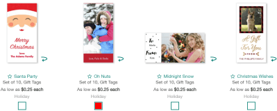 Walgreens : FREE Set of 10 Gift Tags (Today Only - In-Store Pickup)