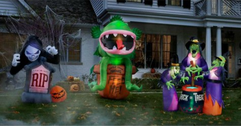 Today, October 5th only, head to Home Depot where they are offering up to 35% off Halloween Inflatable Yard Decor.  Even sweeter, all of these items ship free!