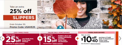 Kohl's : 20% Off W/Code + Extra 25% Off W/Code!!