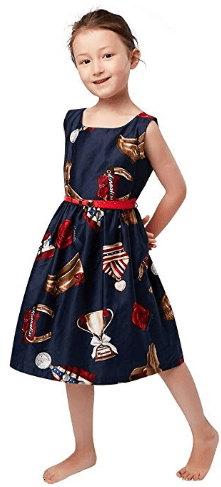 Amazon : Printed Navy Blue Cotton Dresses Just $9.98 W/Code (Reg : $26.90) (As of 10/20/2019 8.15 PM CDT)