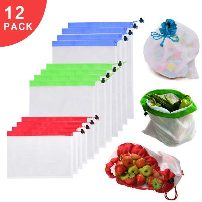 Amazon : Set of 12 Reusable Mesh Produce Bags Just $2.69 W/Code + 30% Off Coupon (Reg : $10.99) (As of 10/23/2019 9.45 AM CDT)
